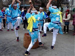 南大塚の餅つき踊り @ 西福寺、菅原神社